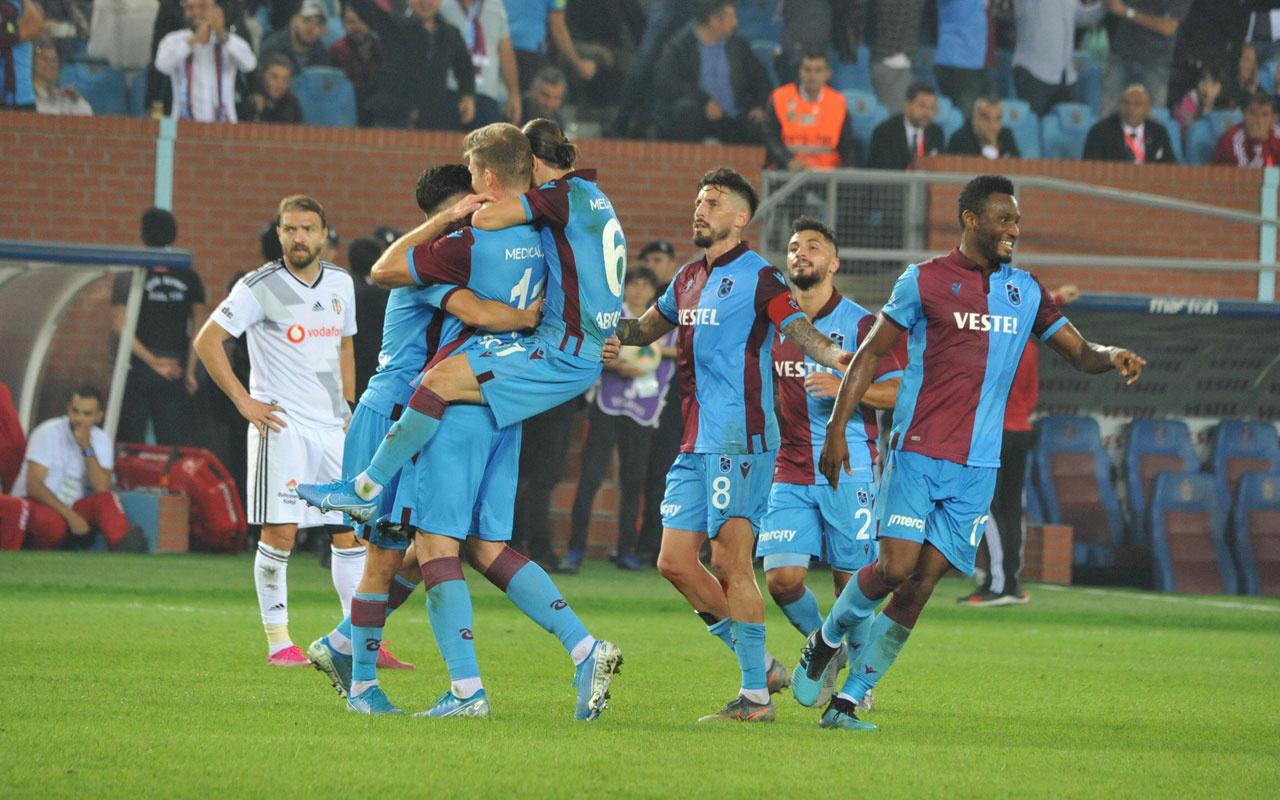 Trabzonspor Beşiktaş'a fark attı yerel basın kendinden geçti