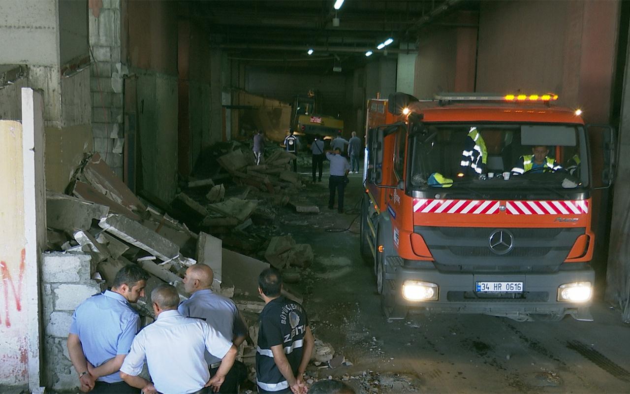 İstanbul 15 Temmuz Demokrasi Otogarı'ndaki metruk yapılar yıkıldı
