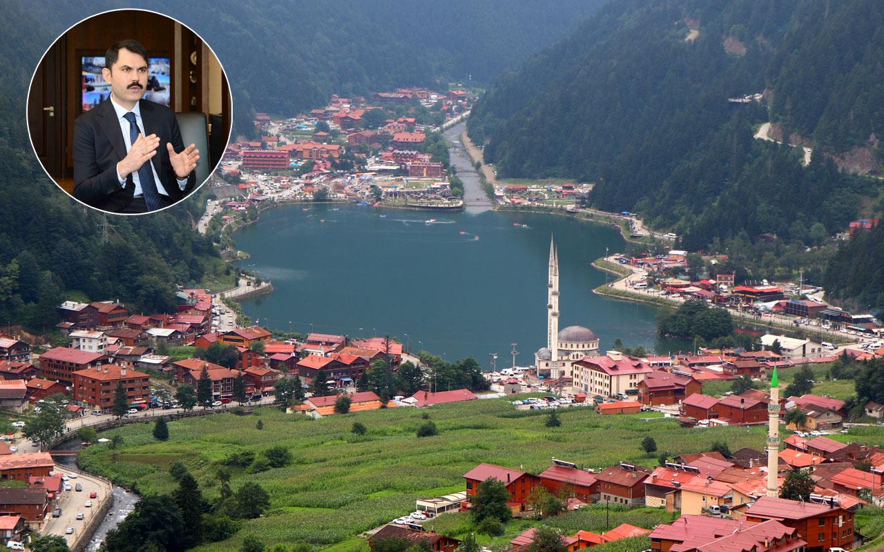 Bakan Murat Kurum talimat vermişti! Uzungöl'deki kaçak yapıların yıkım tarihi belli oldu