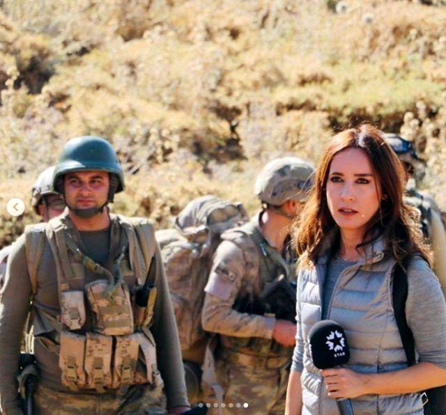 Star TV spikeri Nazlı Çelik Mehmetçik'le birlikte operasyona katıldı! Paylaştığı nota mesaj yağdı