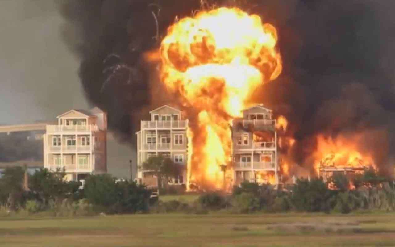 ABD'de büyük yangın: 7 ev kullanılamaz hale geldi