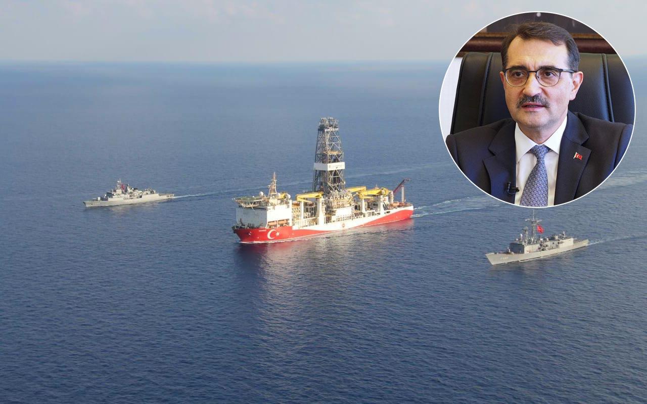 Bakan Fatih Dönmez Doğu Akdeniz'deki sevindiren gelişmeyi rota vererek paylaştı