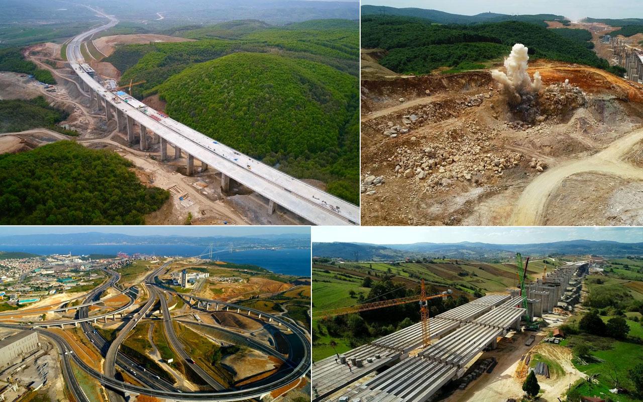 2 yıl boyunca Drone ile çekildi! Kuzey Marmara Otoyolu'nun yapım aşamalarından görüntüler