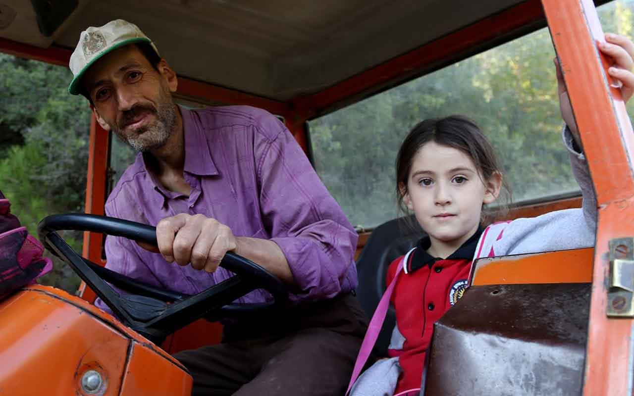 Kızının okula gidebilmesi için veresiye yol yaptırdı