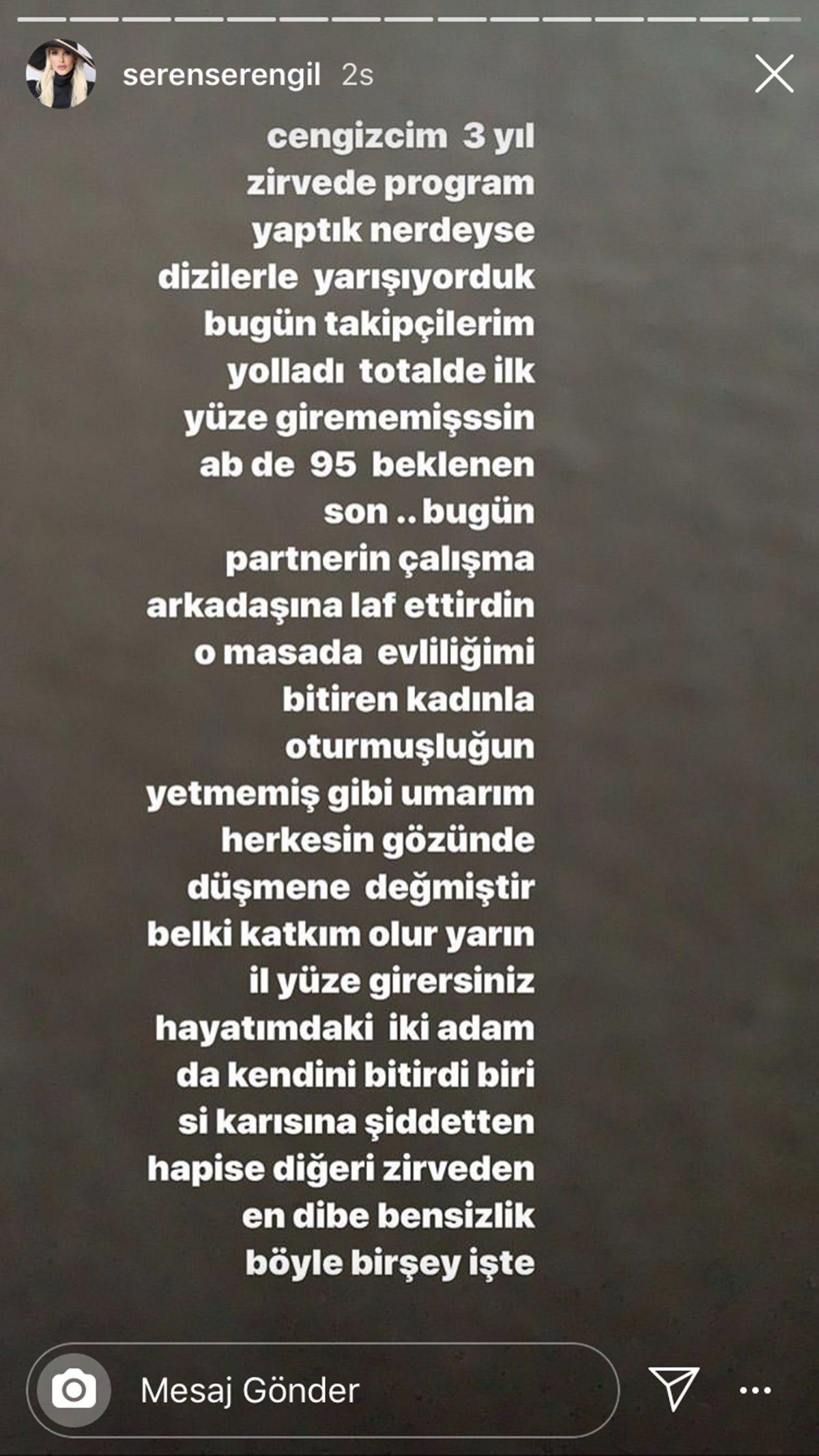 Seren Serengil Cengiz Semercioğlu'nu yerden yere vurdu dostluğu Eylem İpek bitirdi
