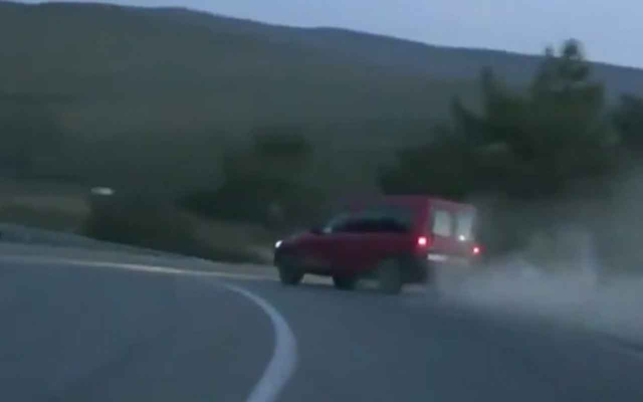 Alkollü sürücü polisten kaçarken takla attı
