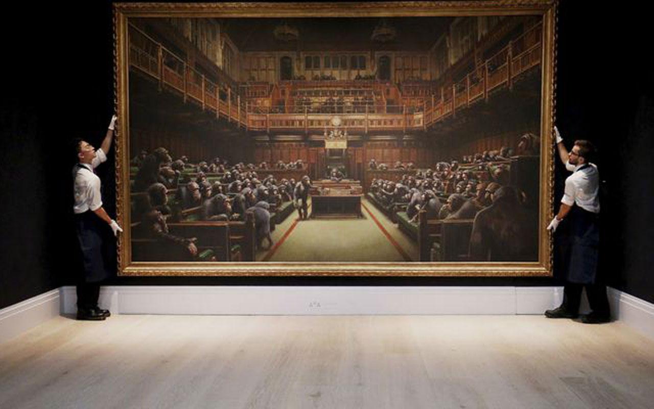 Banksy'nin tablosu rekor fiyata satıldı
