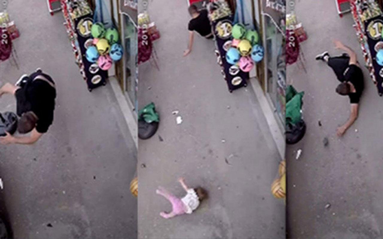 Vicdansızlık! Kucağında bebeğiyle bekleyen babaya aracıyla çarpıp kaçtı