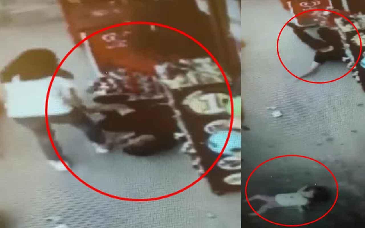 Kaldırımda dolmuş bekleyen baba ve 2 yaşındaki kızına kamyonet çarptı