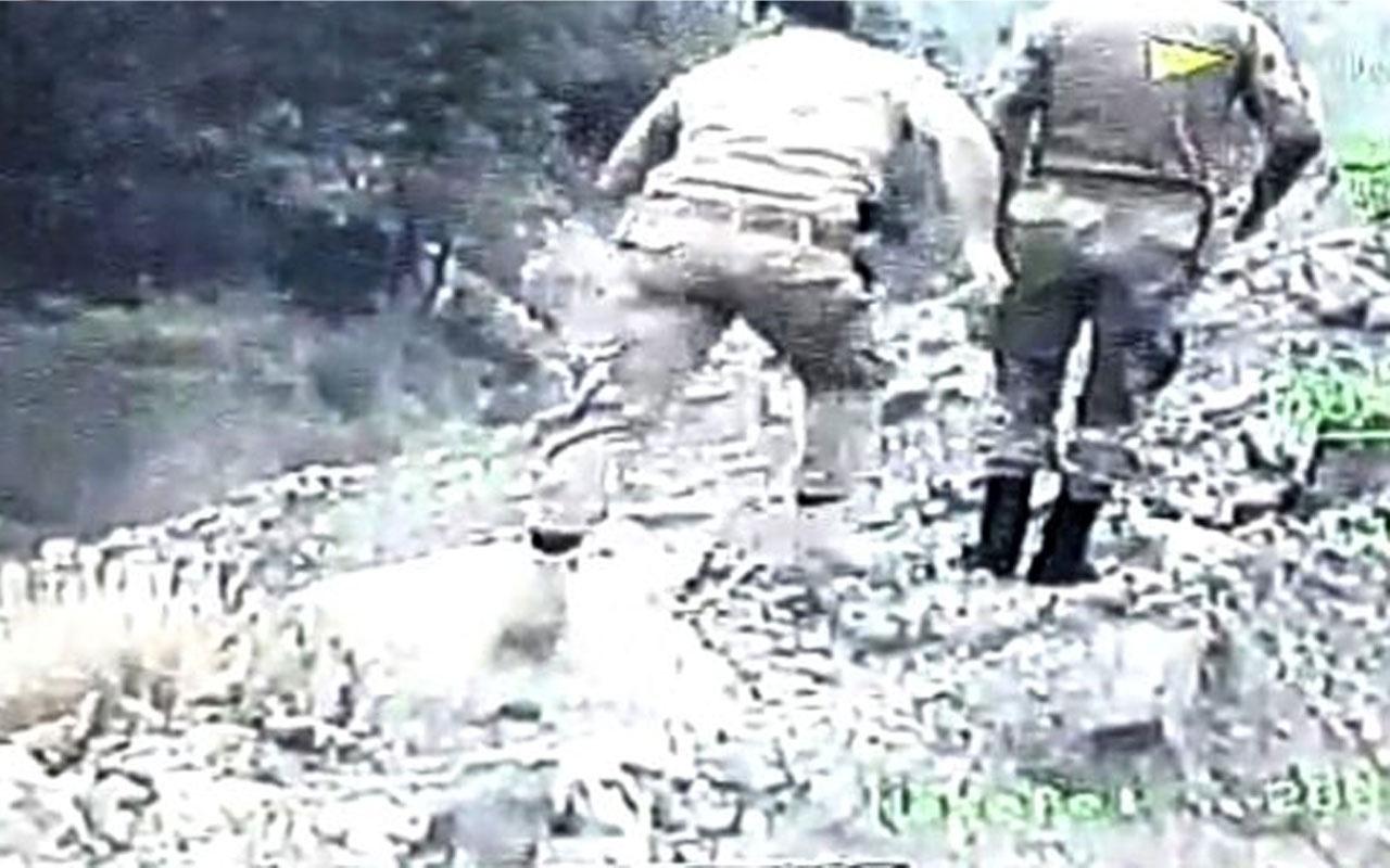 Amanoslar'da 2 askerin şehit düştüğü kazanın yürek yakan görüntüleri