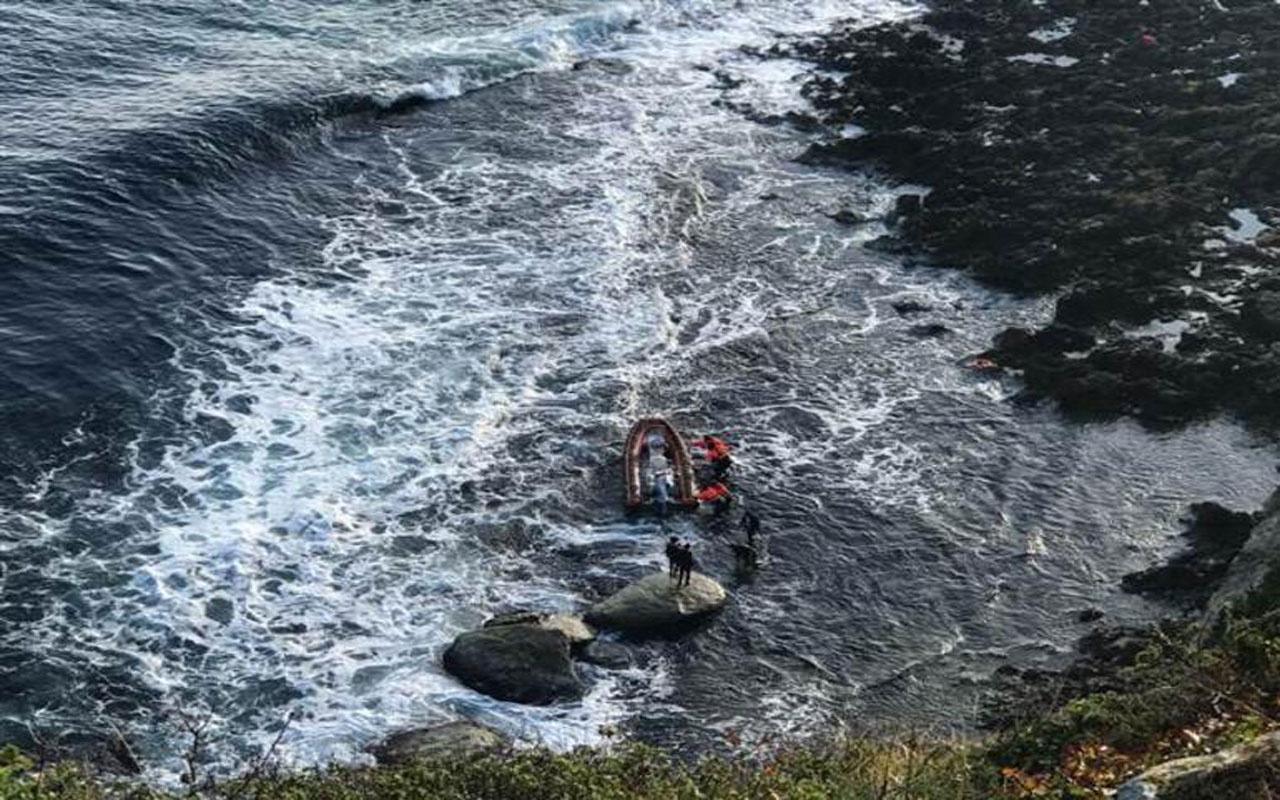 Kırklareli'nde balıkçılar kayalıklarda mahsur kaldı
