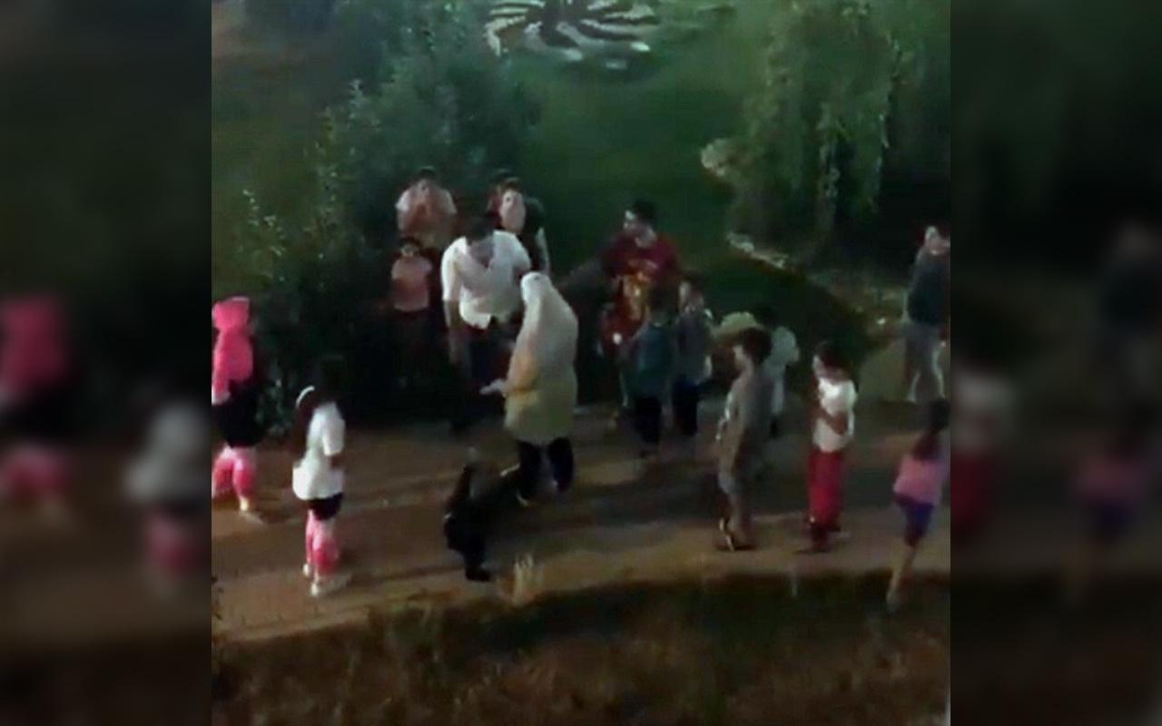 Mersin'de Ürdünlü çocuğa tokat atan zanlıya gözaltı
