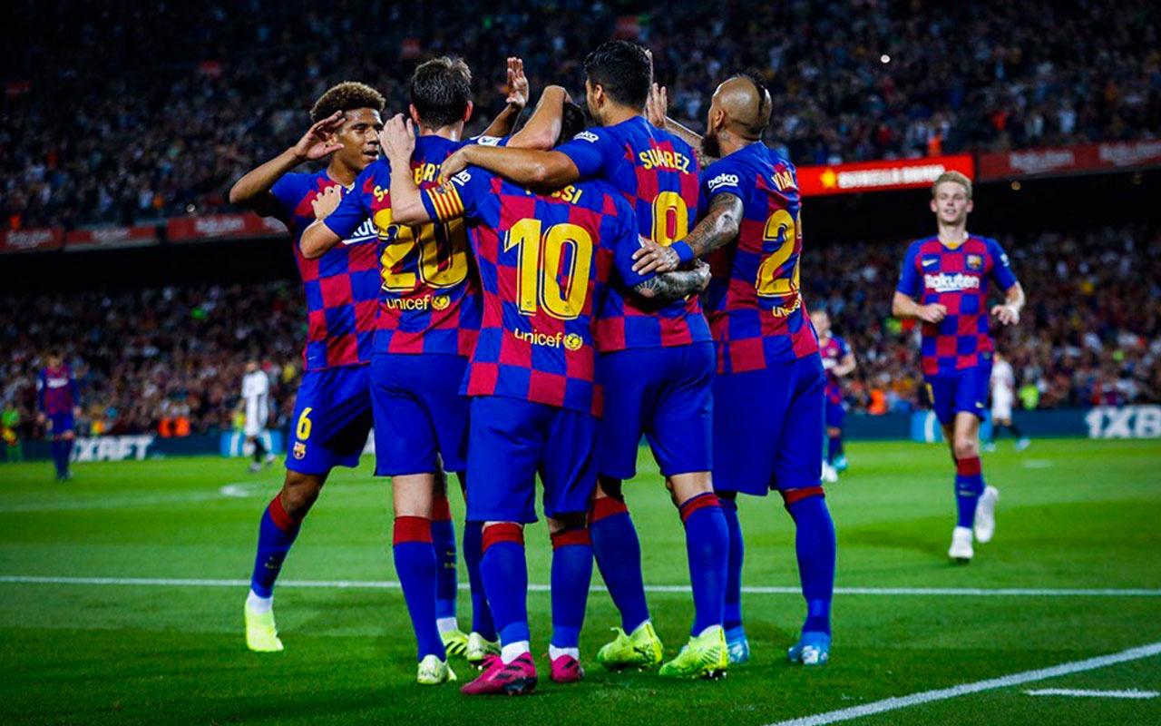 Barcelona Sevilla'ya gol oldu yağdı