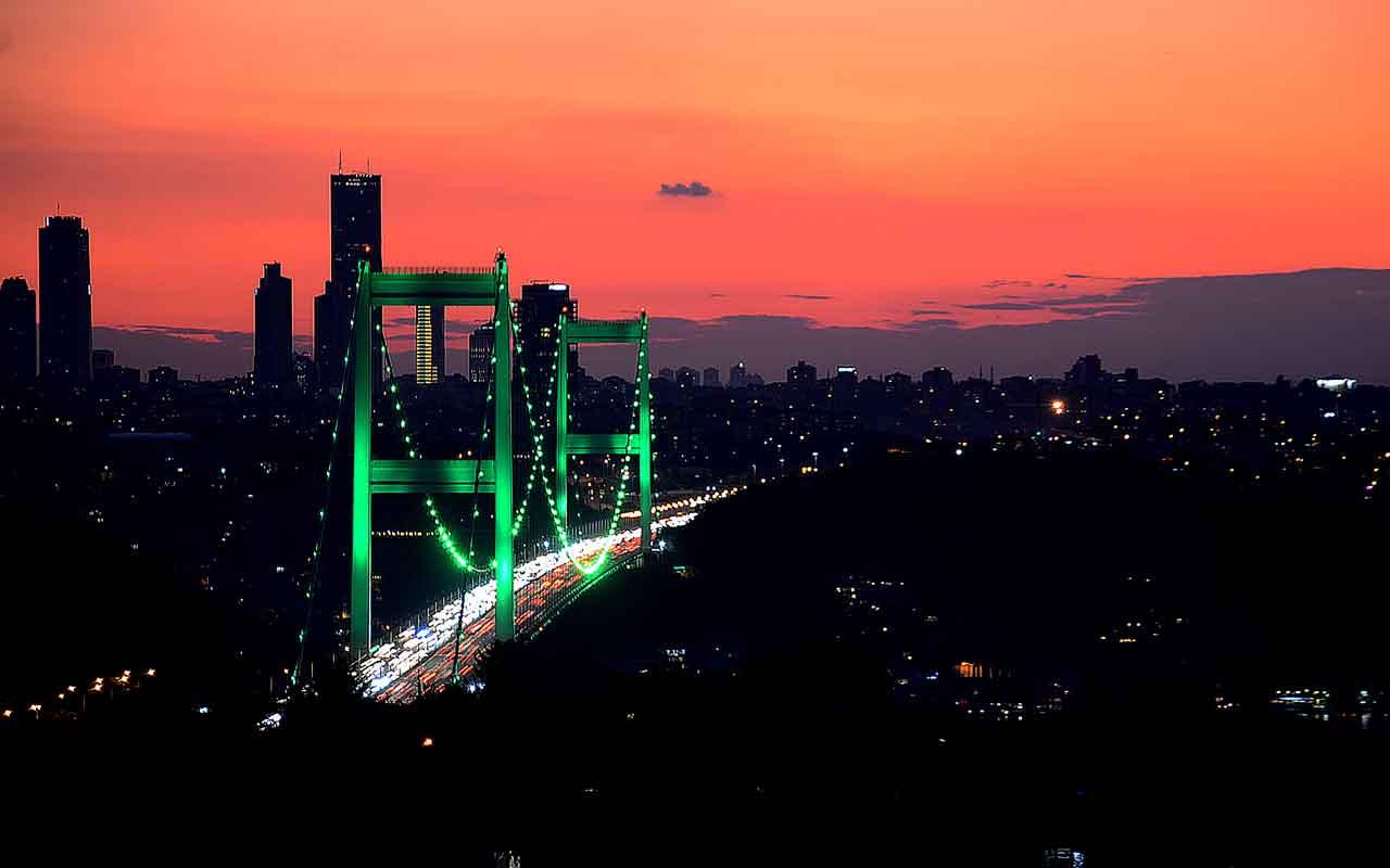 """İstanbul """"serebral palsi"""" hastalığına dikkati çekmek için yeşile büründü"""