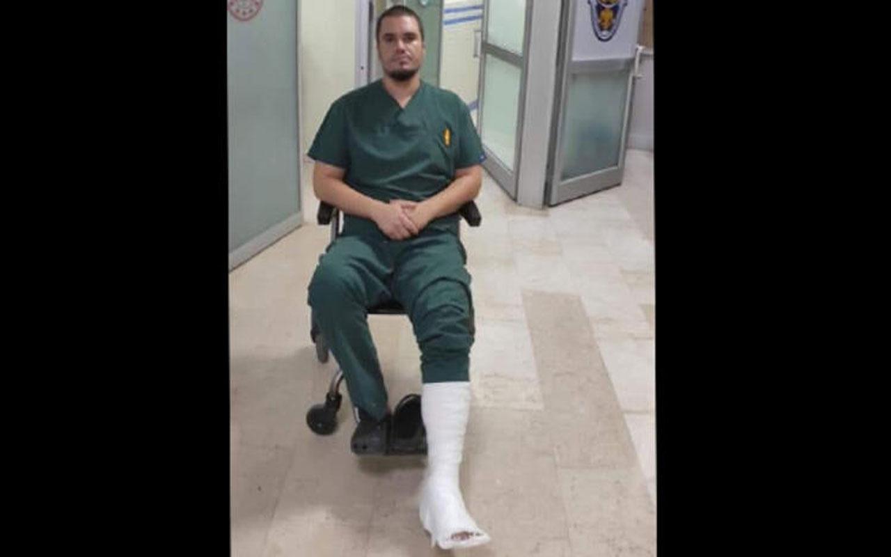 Konya'da hasta yakınlarının dövdüğü doktorun ayağı kırıldı