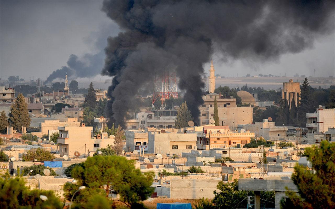 Barış Pınarı harekatından görüntüler! Savaş uçakları böyle bombaladı
