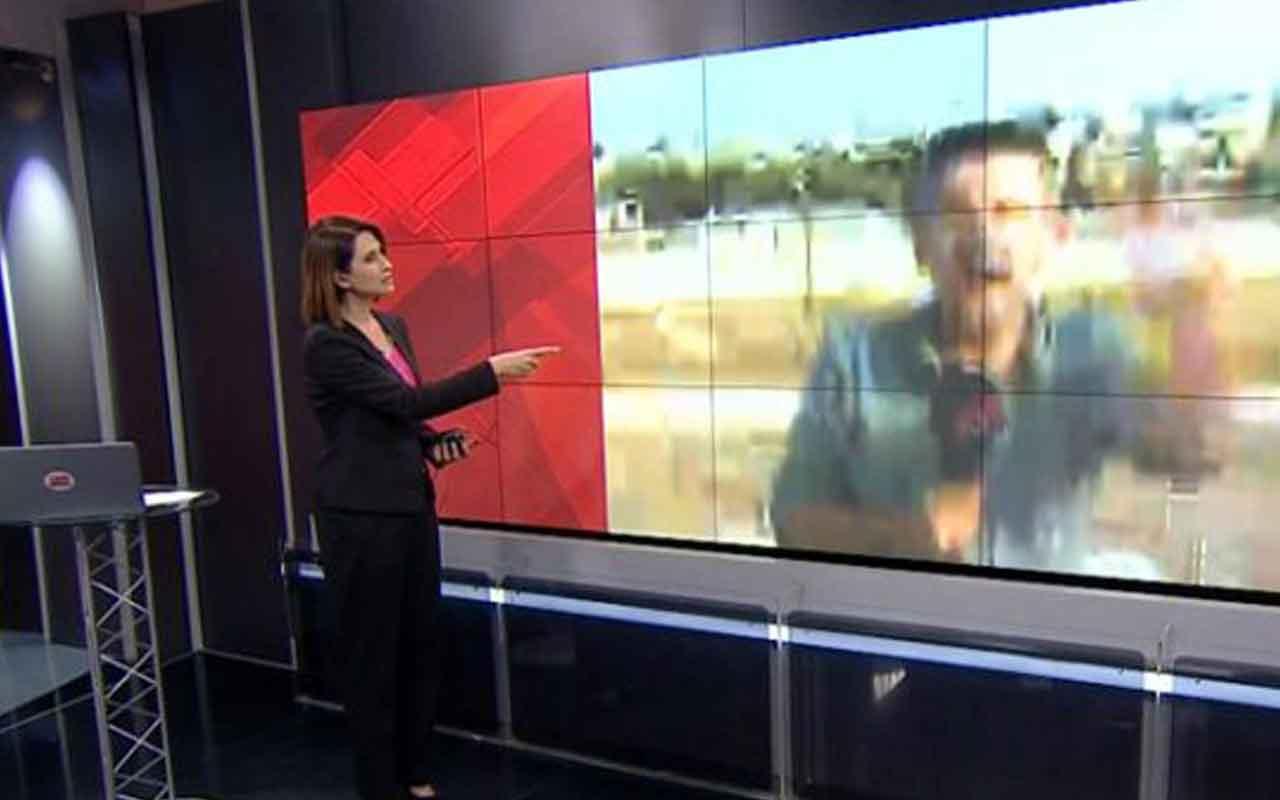 CNN Türk muhabiri harekat başladığı an canlı yayında tepindi
