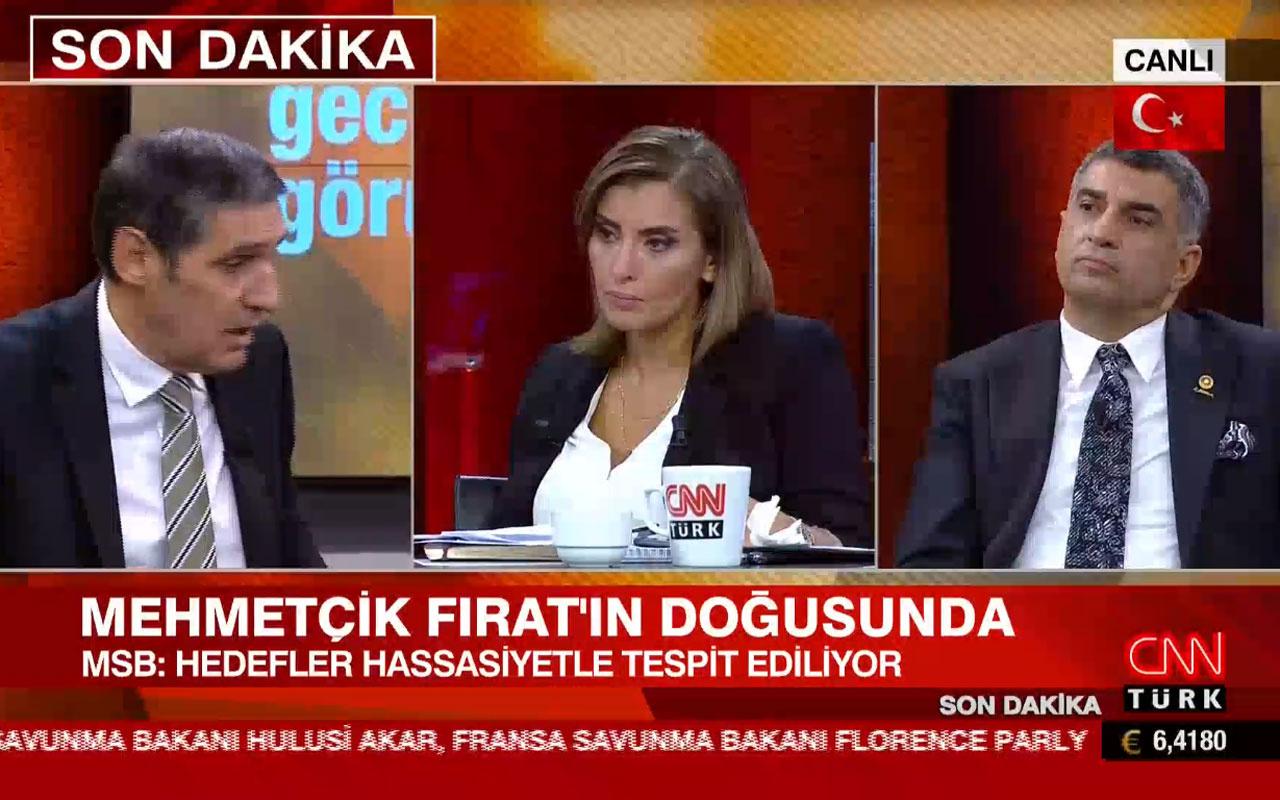 CNN Türk canlı yayını 'yalaka' kavgasıyla karıştı : Şuraya kendimi asarım