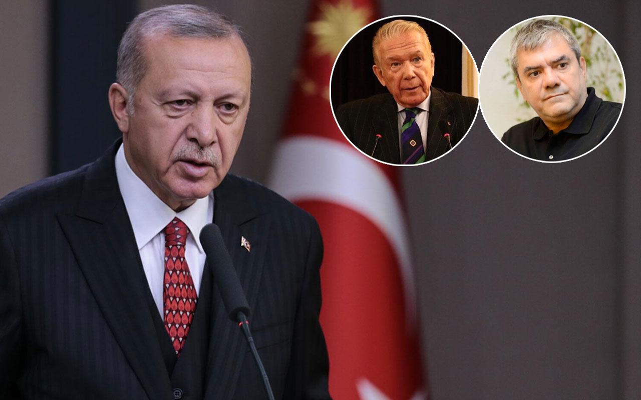 Erdoğan'dan Trump'ın tehdidi sonrası 'yanındayız' diyen Yılmaz Özdil ve Uğur Dündar'a yanıt