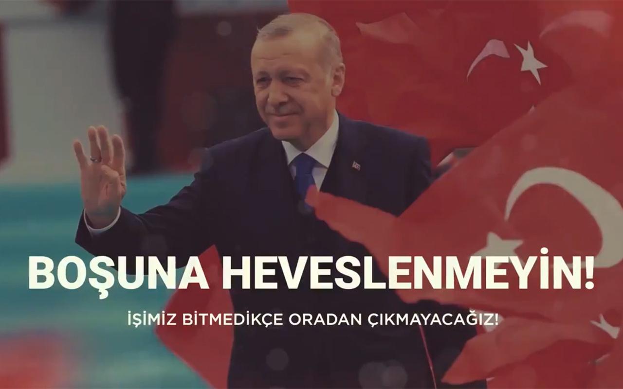 Sosyal medyada yayınlanan Barış Pınarı Harekatı videosu