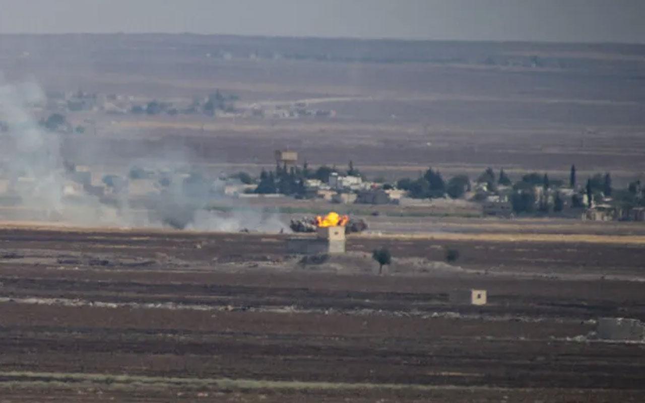 Ayn El Arab'daki terör hedefleri top atışları ile vuruldu