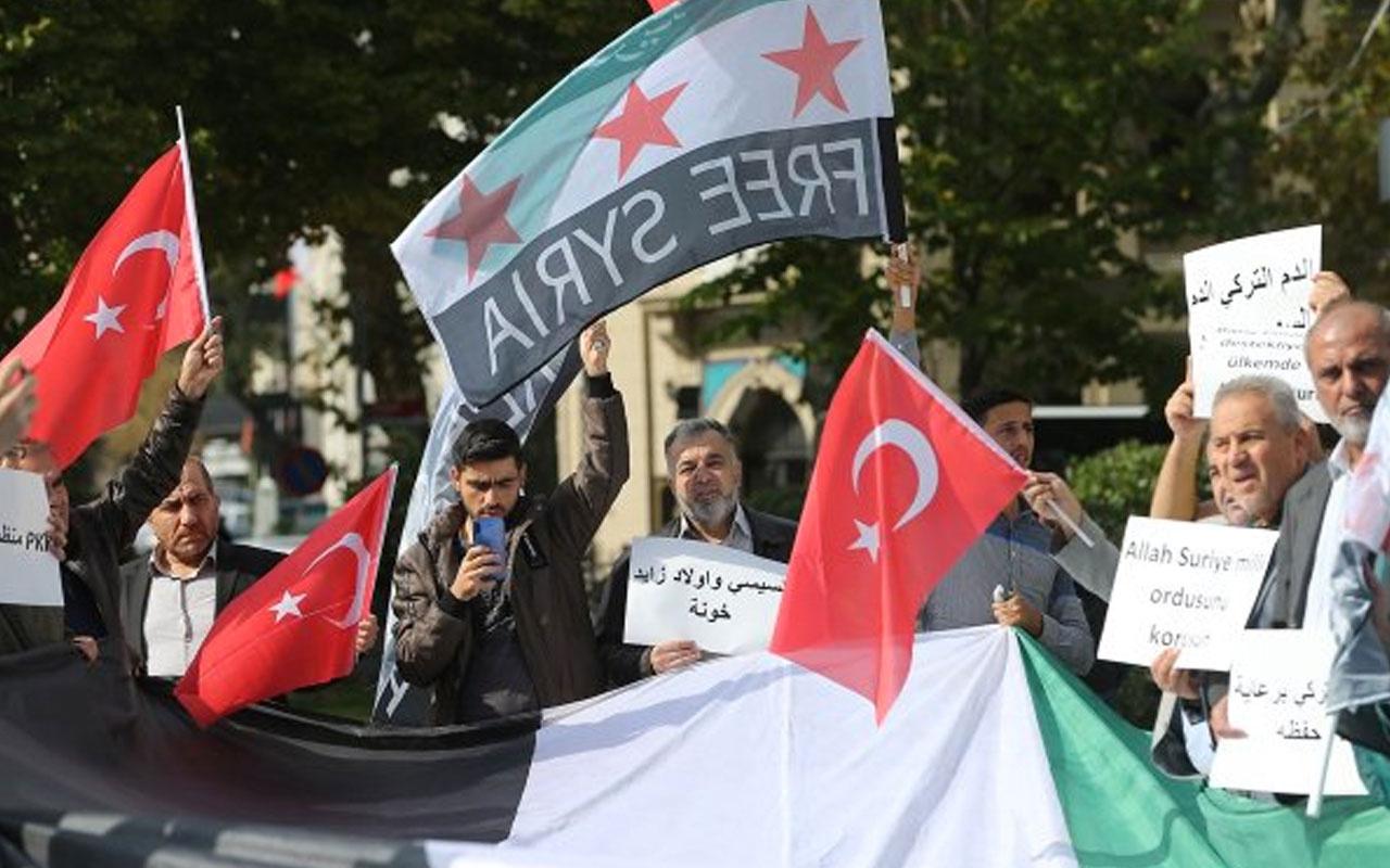 İstanbul'daki Suriyeliler Barış Pınarı Harekatı'na destek için miting yaptı