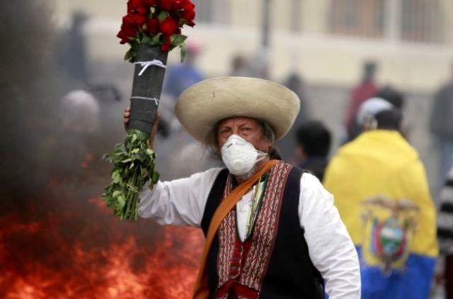 Ekvador'da protestolar! Ordu devrede Başkent'te sokağa çıkma yasağı