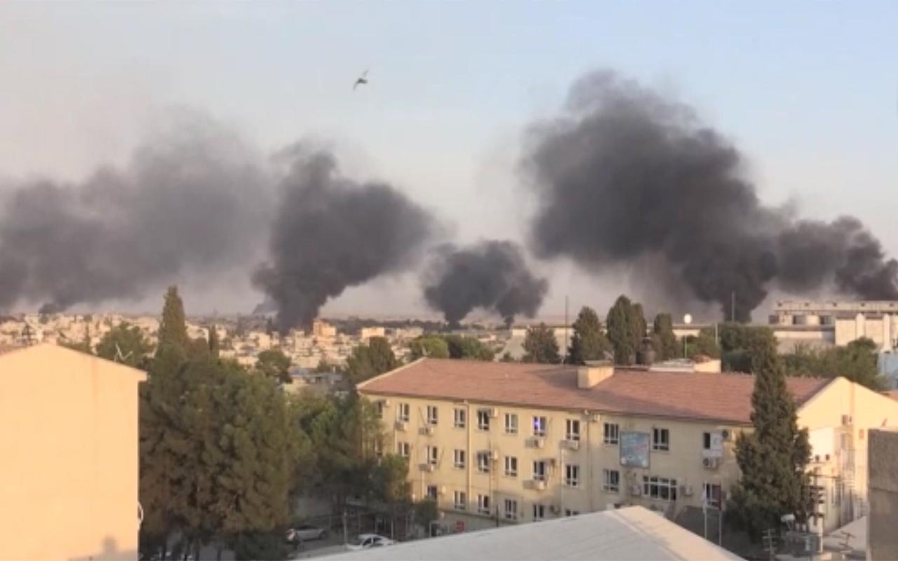 Resulayn'ın bazı bölgelerinden dumanlar yükseldi