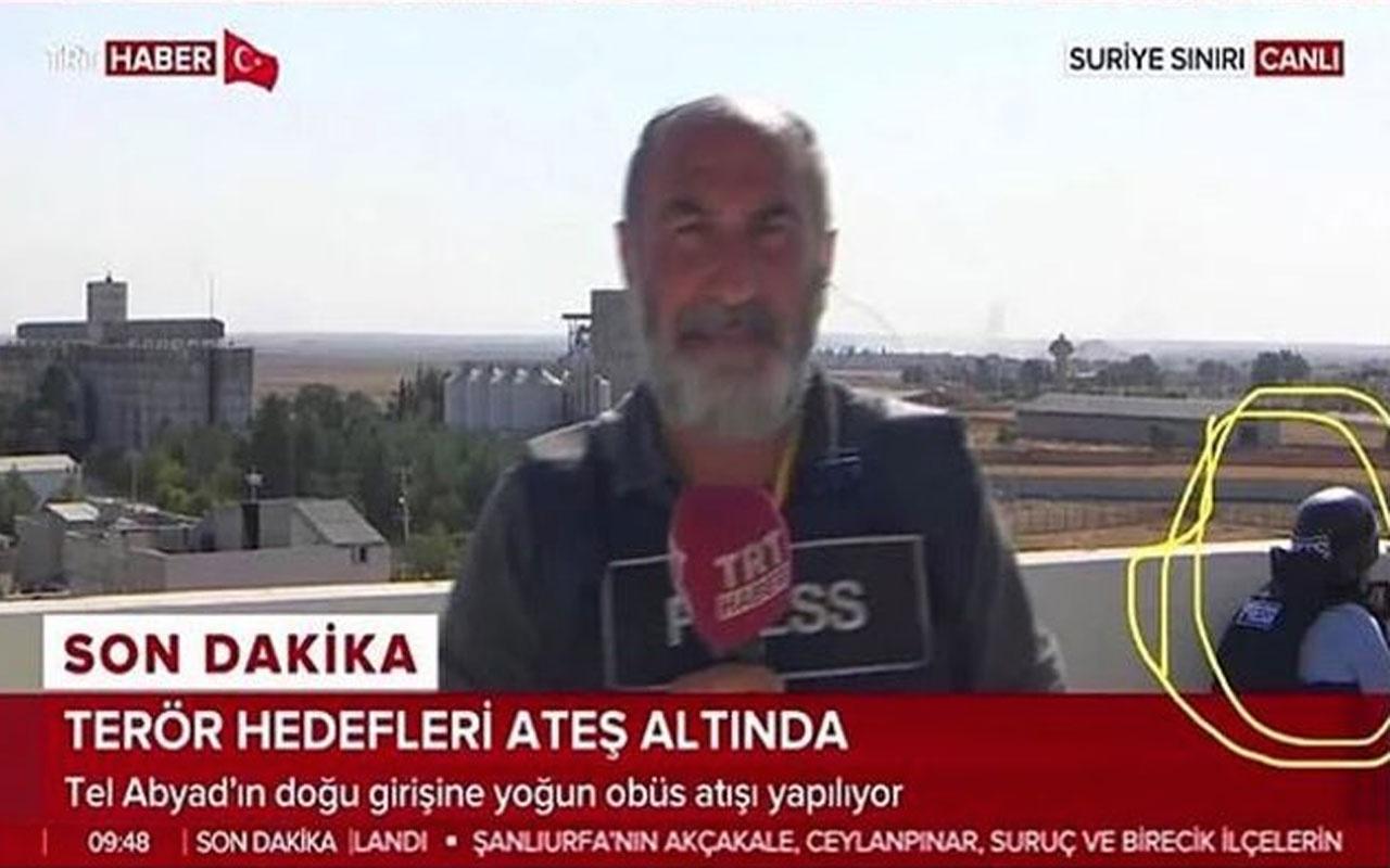 A Haber muhabirinin sınırdaki görüntüsü olay yaratmıştı! Açıklama geldi