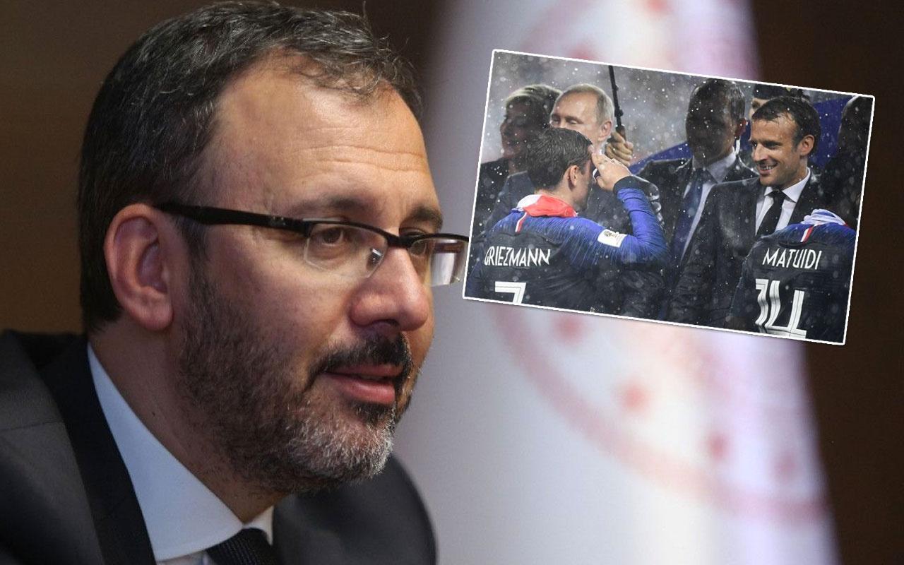 Bakan Kasapoğlu'ndan Fransa'ya asker selamı tepkisi! Bu fotoğrafı örnek gösterdi