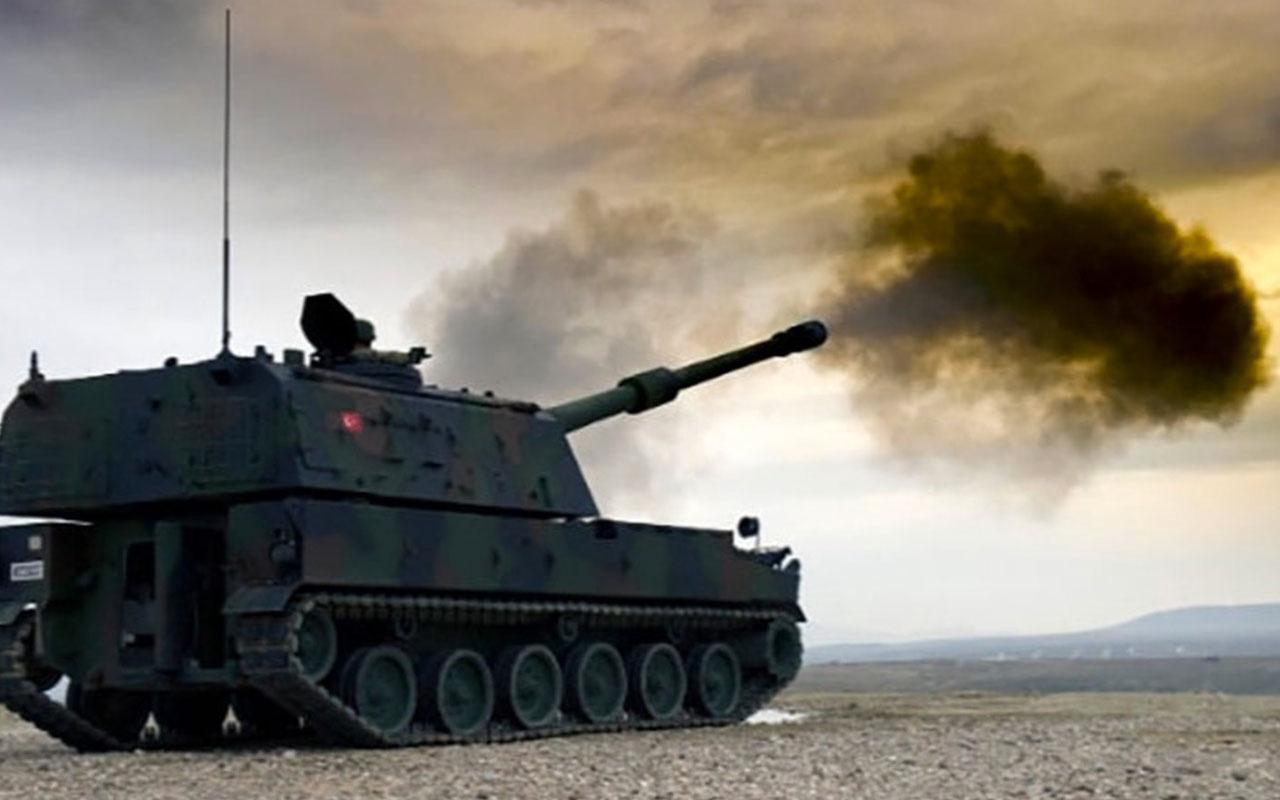Tel Abyad kırsalındaki terör mevzilerine obüs atışı