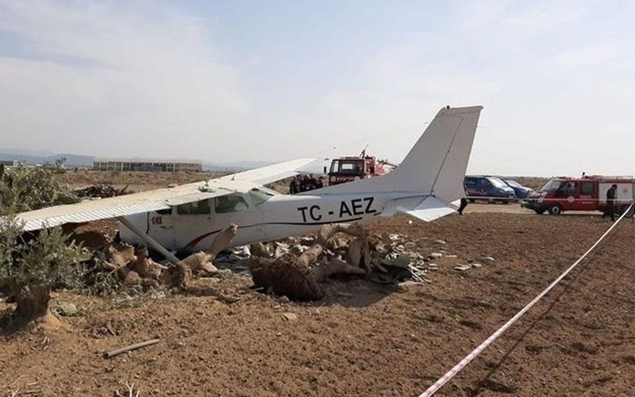 Son dakika Antalya'da sivil eğitim uçağı düştü haberi geldi