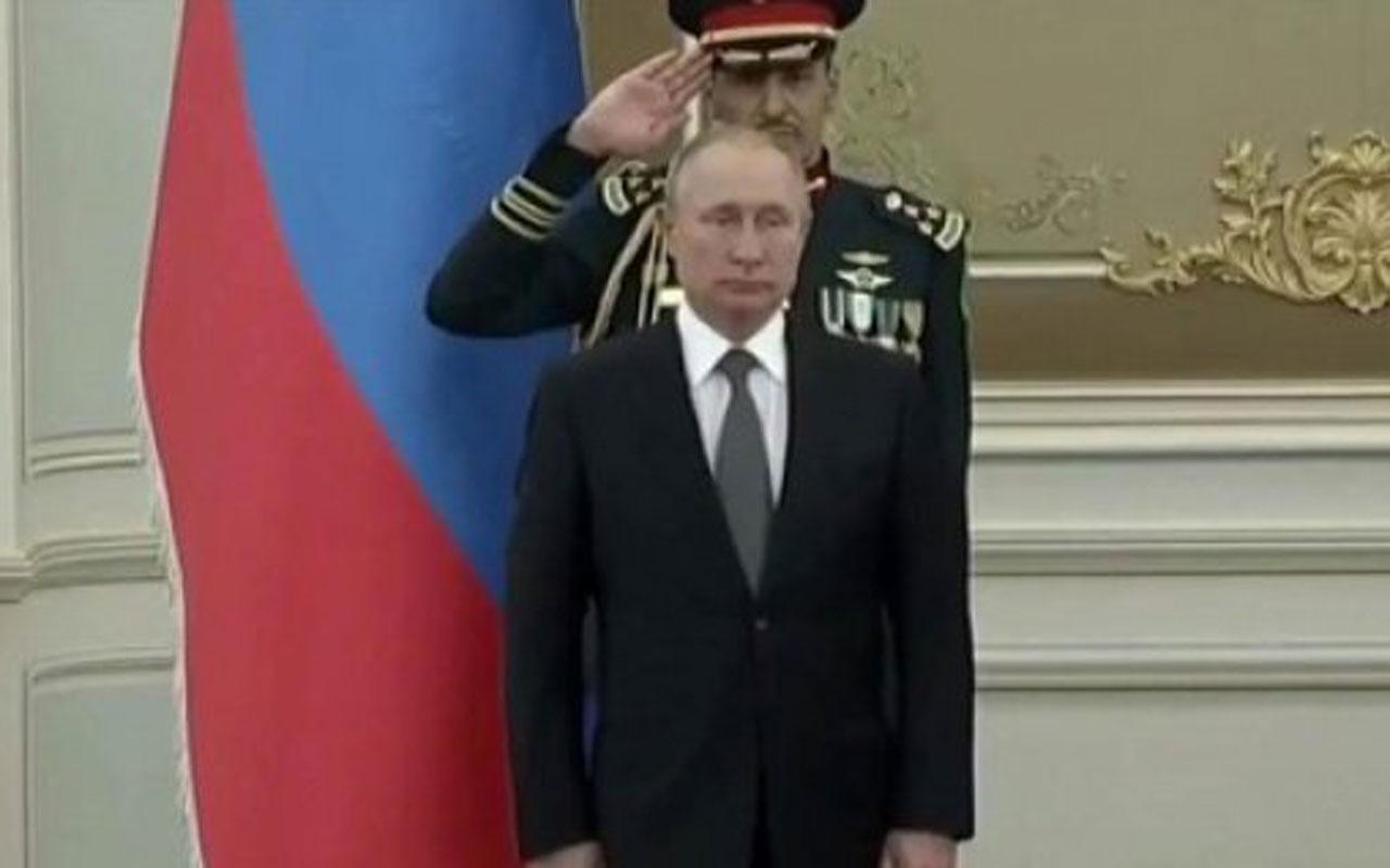 Suudi bandosu Rus marşını çalamadı Vladimir Putin şekilden şekle girdi