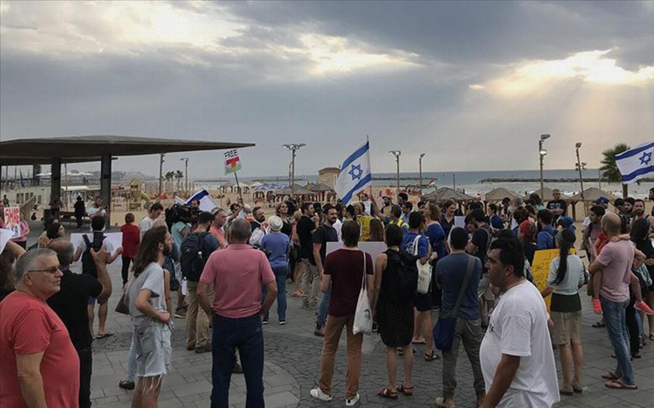 İsrail'de terör örgütü YPG/PKK'ya destek eylemi