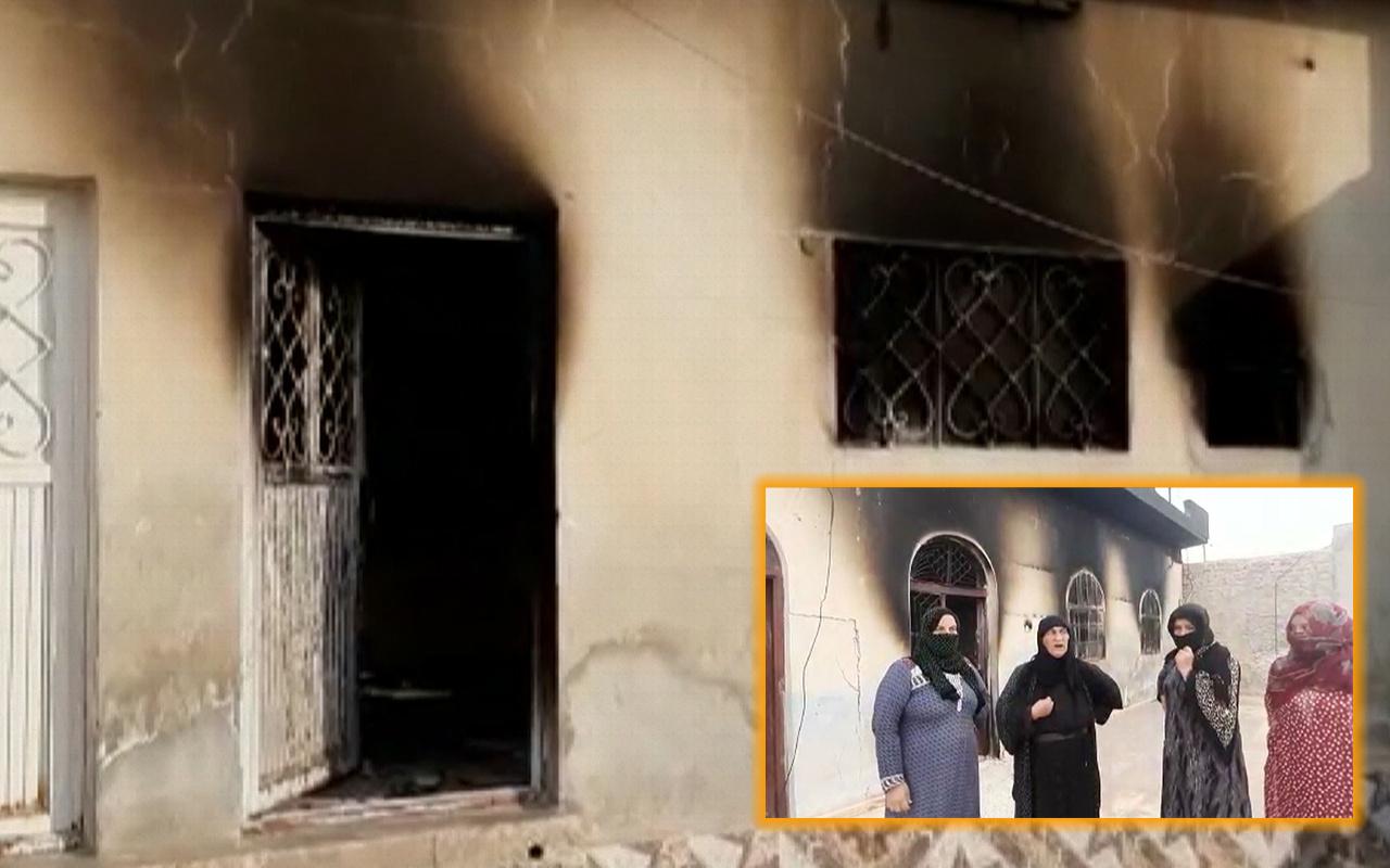 YPG/PKK'lı teröristler sivillerin evlerini yakıp kaçtı