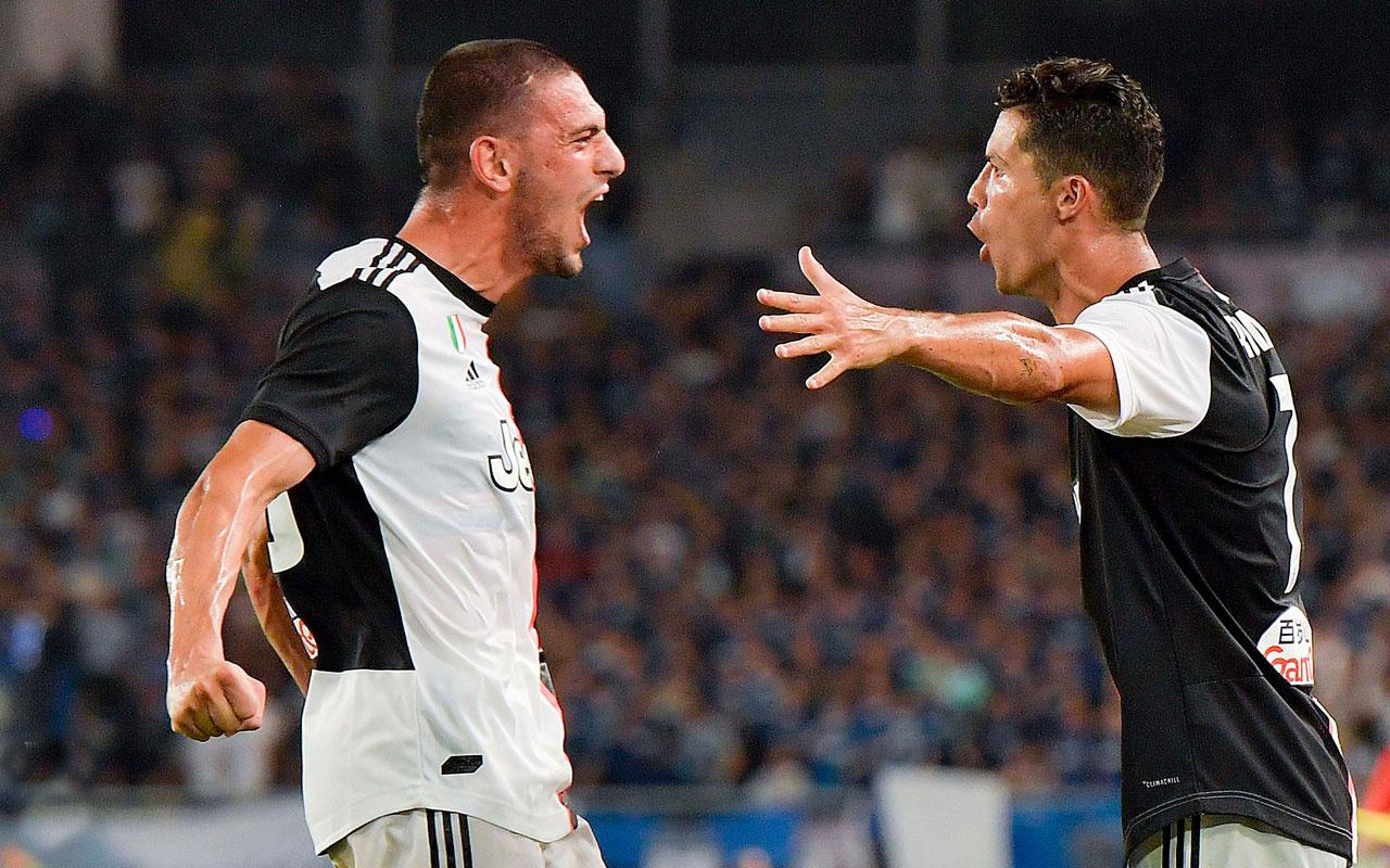 Ronaldo'dan Merih Demiral'a asker selamıyla karşılama