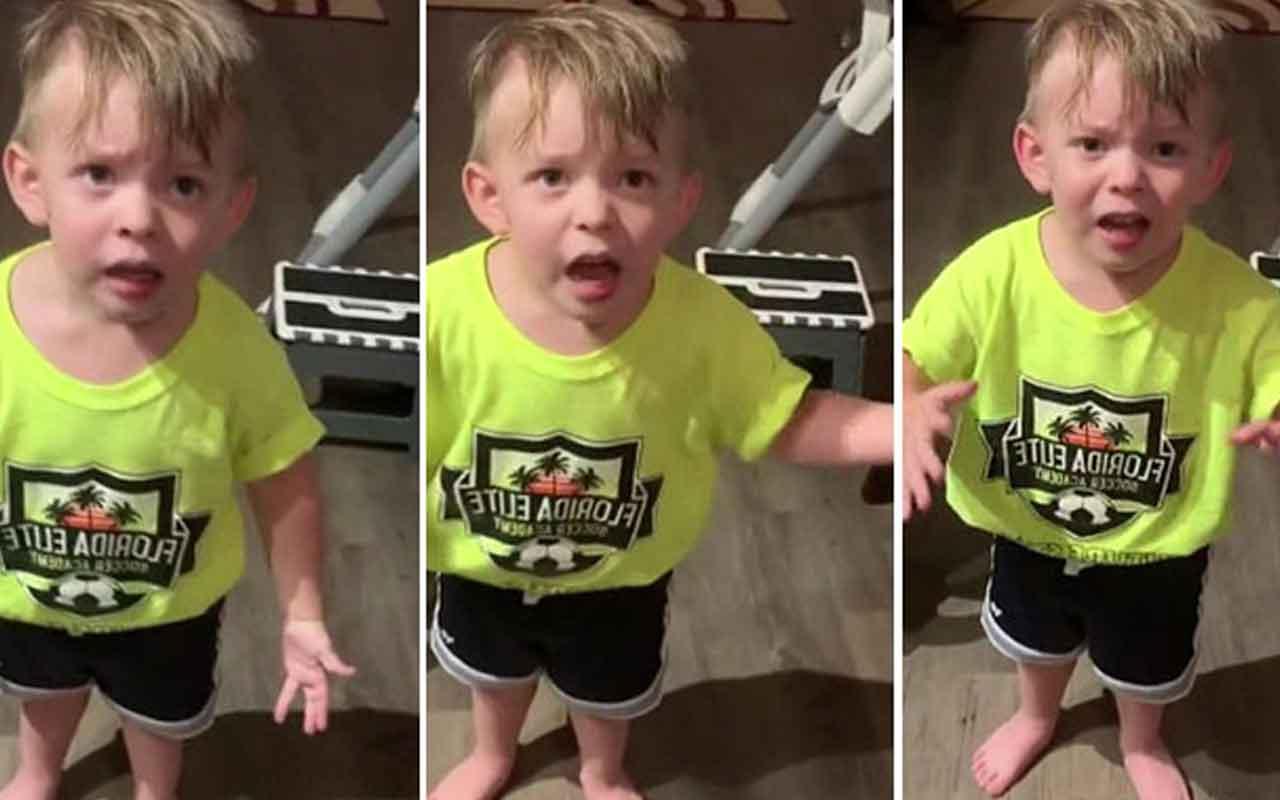 2 yaşındaki çocuk kendisini öpmeden işe giden annesine isyanı