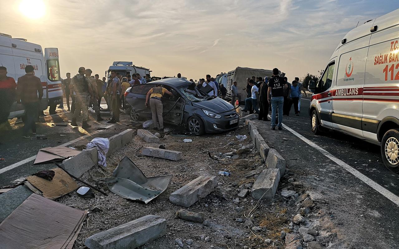 Mardin'de zincirleme kaza 1 ölü başsavcı ile 6 kişi yaralı
