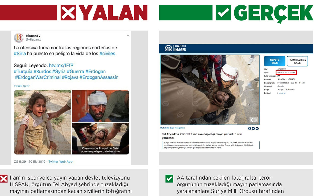 İran televizyonu YPG/PKK'nın tuzakladığı mayını harekat aleyhine çarpıttı
