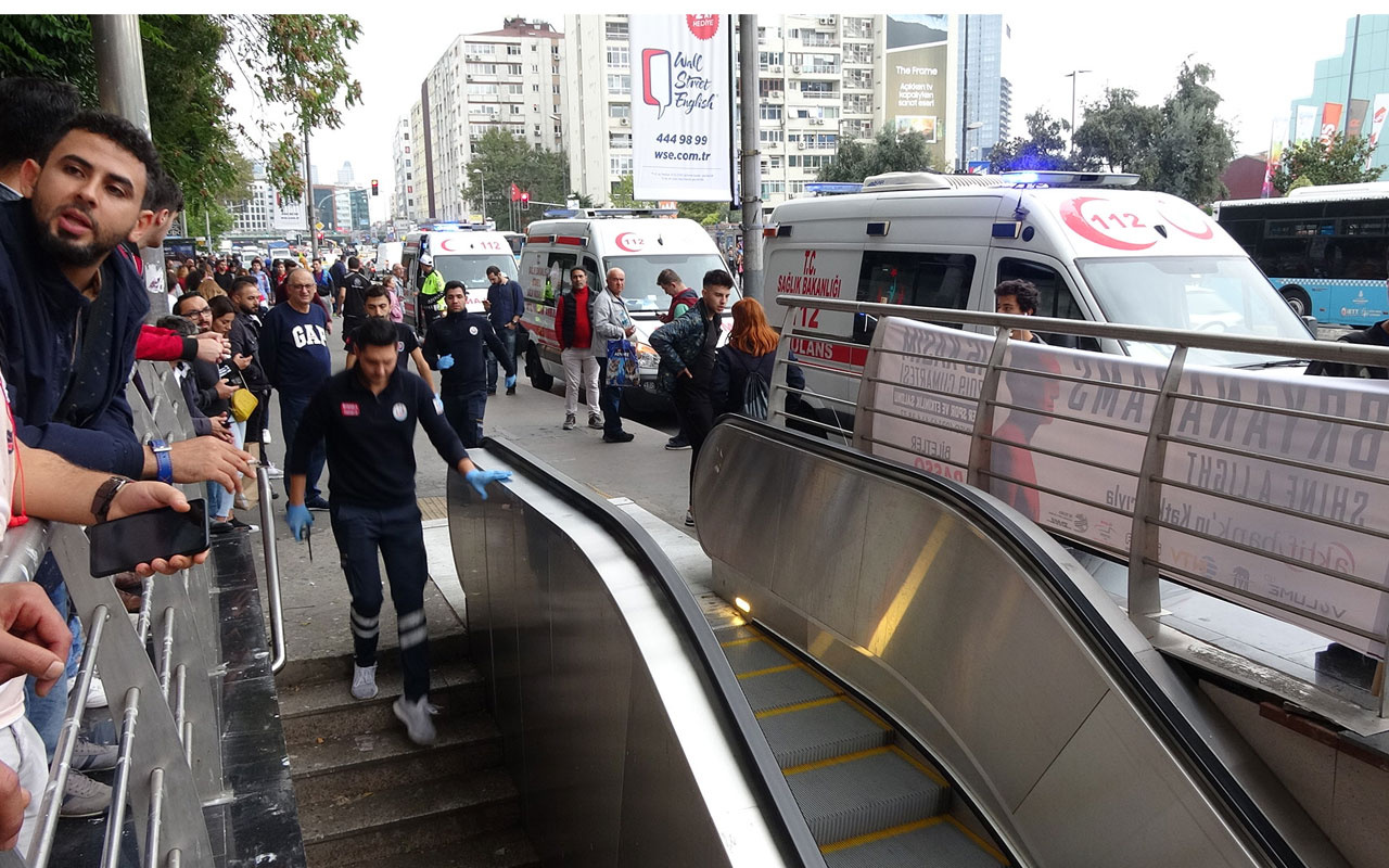 Şişli-Mecidiyeköy metro durağında intihar çantadan çıkan not dikkat çekti