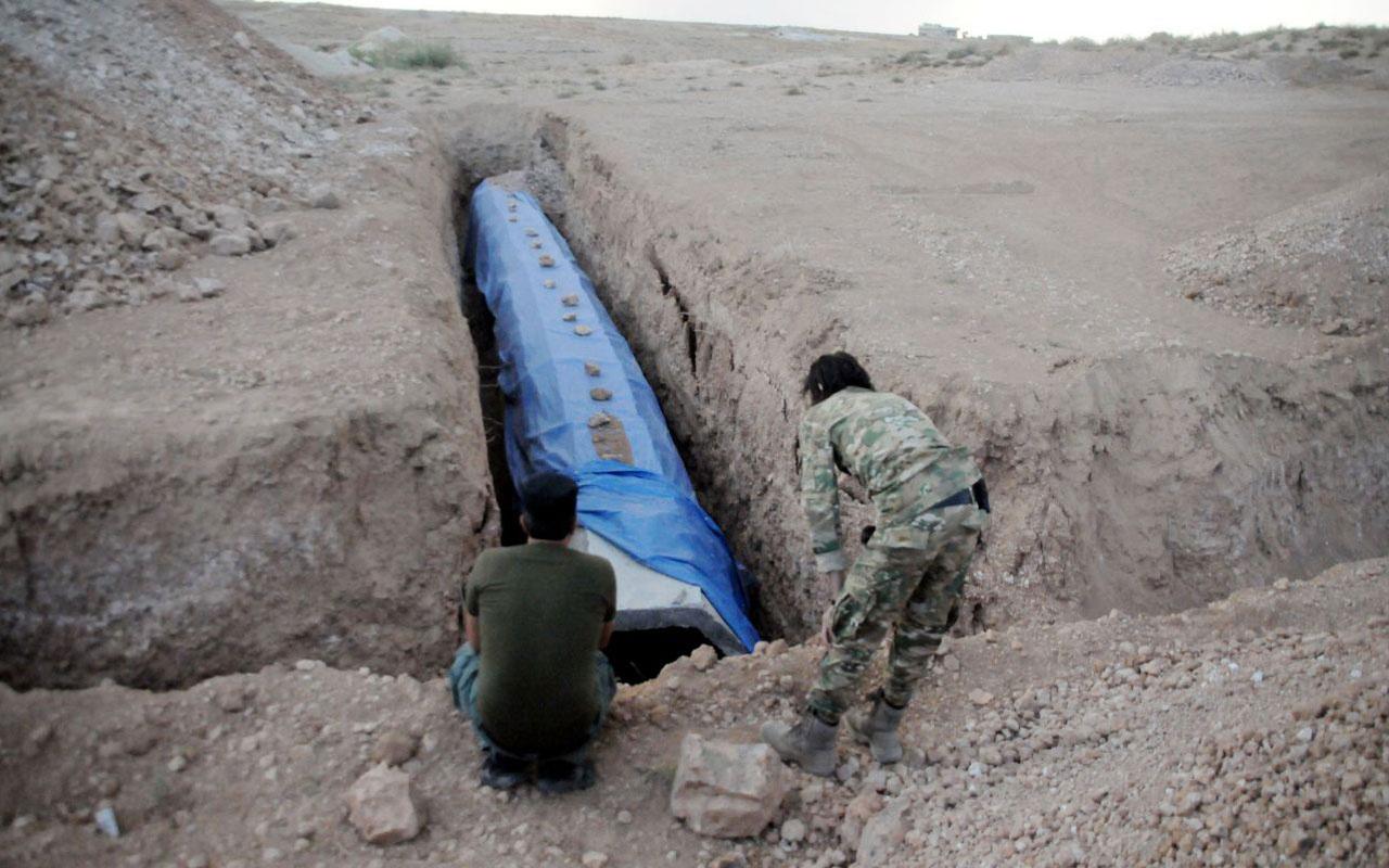 YPG'liler Tel Abyad'ı köstebek yuvasına çevirmiş! Labirent tüneller kapatılıyor