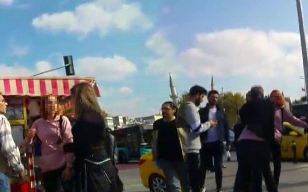 Kadıköy meydanında aile dramı baba ile kızı böyle tartıştı