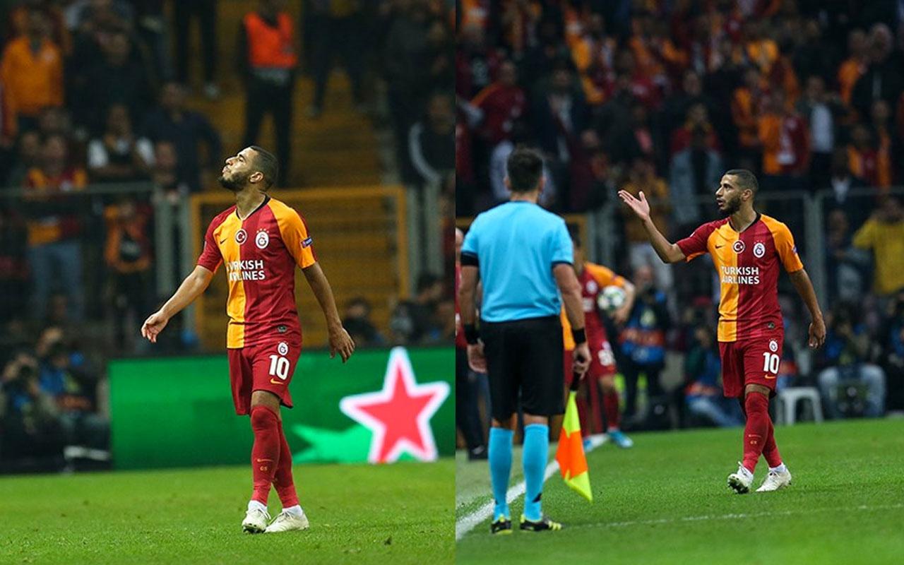 Belhanda'dan Galatasaray taraftarına şok küfür! Eliyle silah işareti bile yaptı