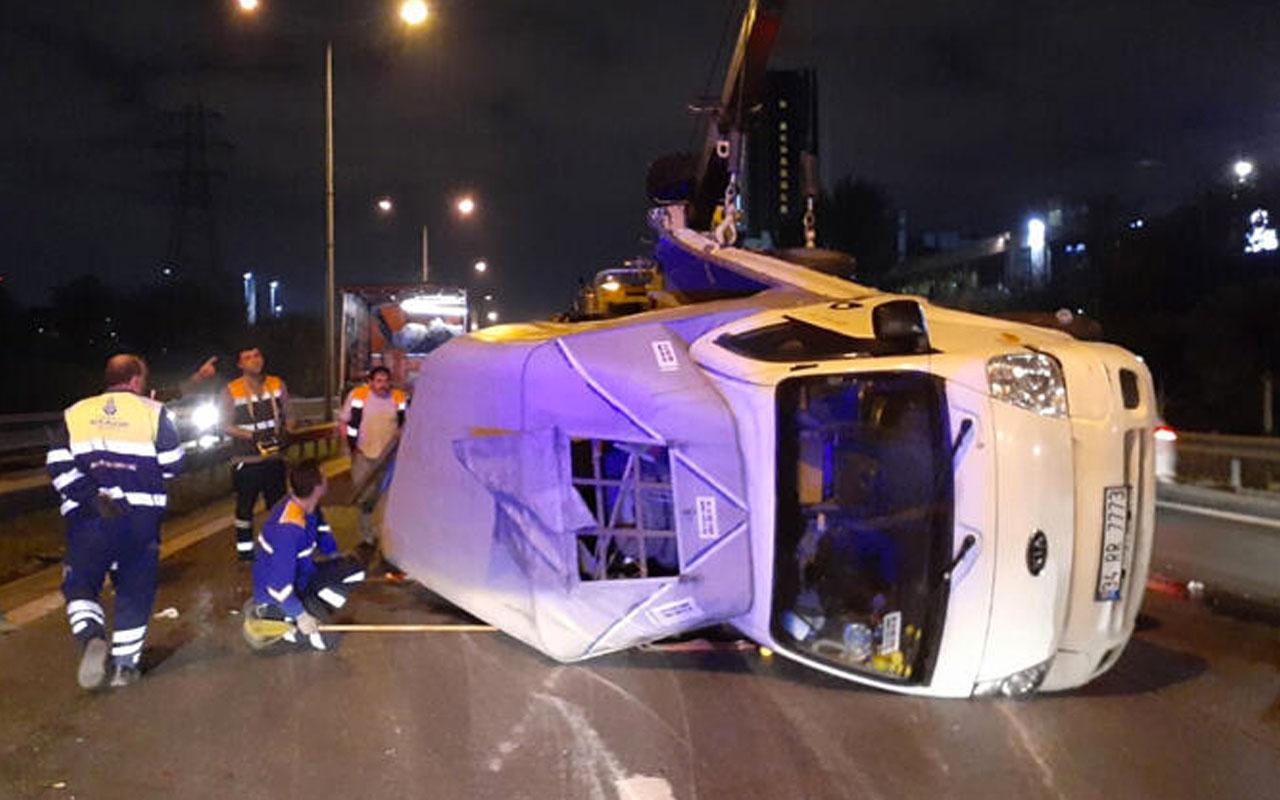 İstanbul Basın Ekspres Yolu'nda feci kaza! Çok sayıda ekip bölgeye sevk edildi!