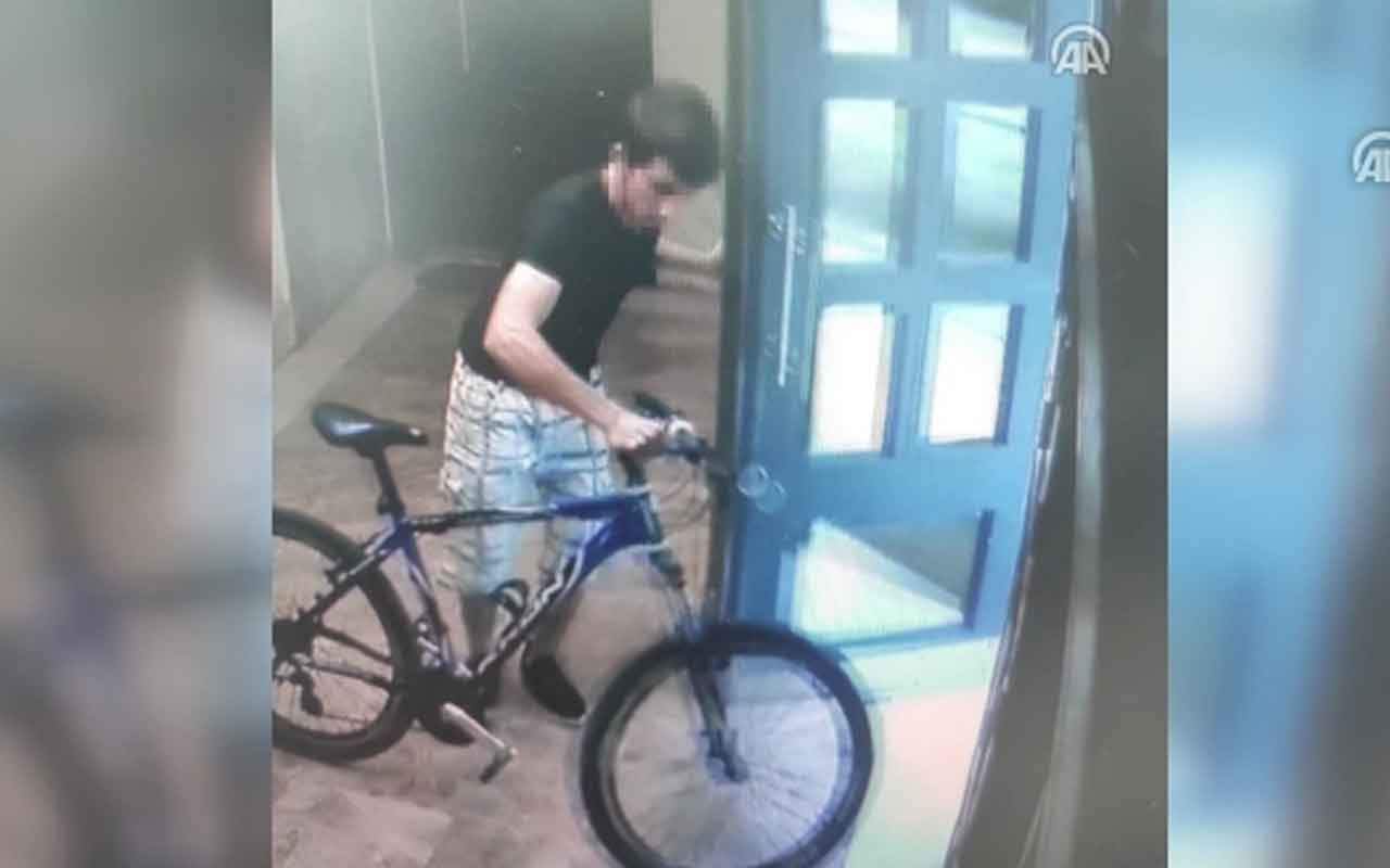 Maltepe'de bisiklet hırsızlığı kamerada