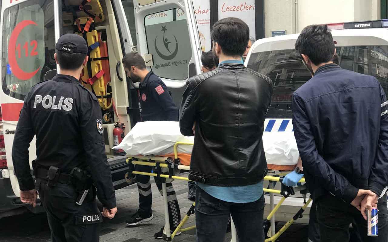 Taksim İstiklal Caddesi'nde ceset şoku
