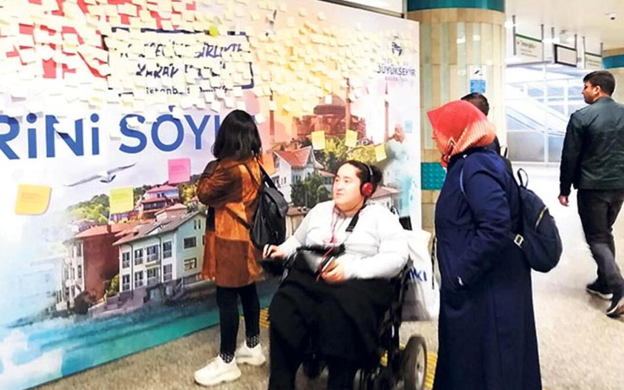 İBB talep sordu 'post it' duvarlarına aşk mesajları yağdı