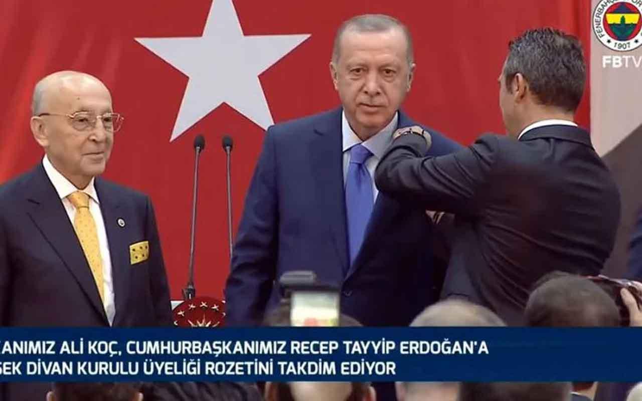 Fenerbahçe'den Cumhurbaşkanı Erdoğan'a 25. yıl beratı