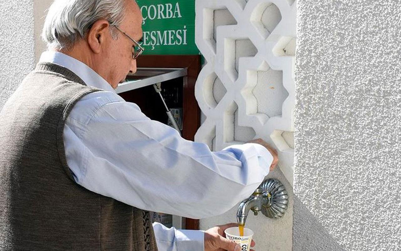 Kırıkkale'deki bu caminin çeşmesinden çorba akıyor