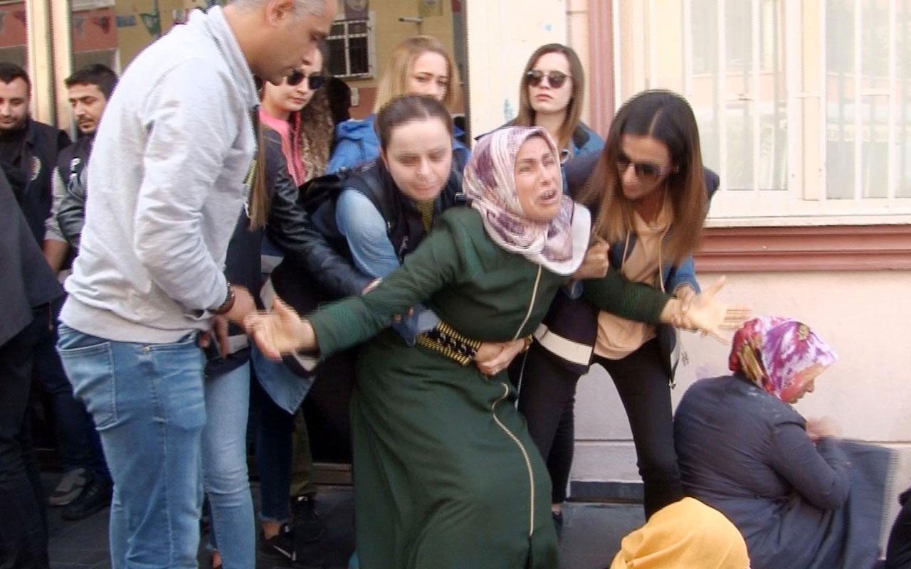Diyarbakır'da HDP önünde gerginlik! Acılı anne sinir krizi geçirdi